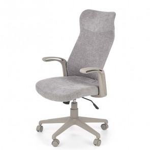Poltrona ufficio Cora tessuto grigio moderna