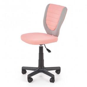 Sedia per scrivania ragazzi Dorian tessuto bicolore grigio rosa