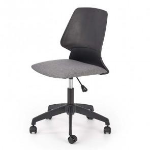 Sedia per scrivania ragazzi Liz tessuto grigio nero moderna