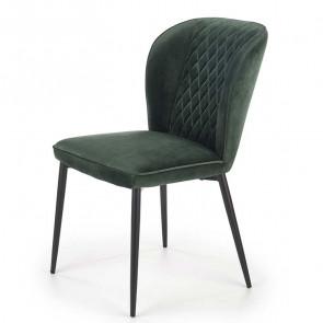 Sedia imbottita Doral in velluto verde