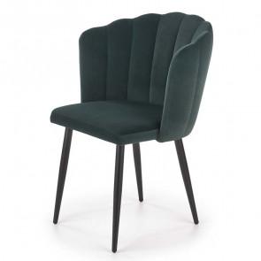 Sedia imbottita Cinzia in velluto verde