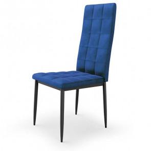 Sedia imbottita Carminia in velluto blu