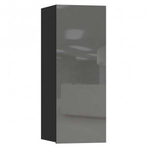 Pensile Leila 1 anta nero opaco grigio vetro