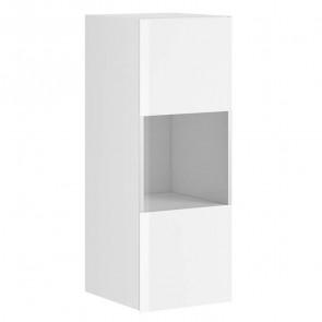 Pensile Leila 1 anta con vetro bianco opaco bianco vetro