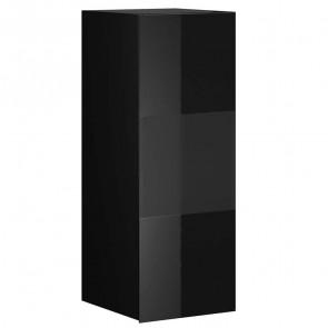 Pensile Leila 1 anta con vetro nero opaco nero vetro