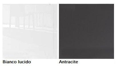 Credenza Moderna 4 Ante Basic : Credenza moderna ante basic bianco antracite