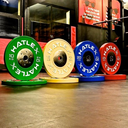 COMPETITION BUMPERS SET COLORED 140KG