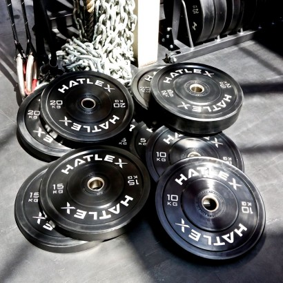 TRAINING BLACK BUMPER PLATES