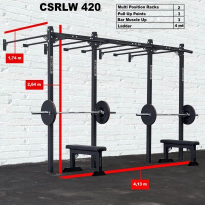 CROSS STATION + LADDER 420 WALLMOUNTED