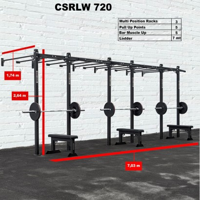 CROSS STATION + LADDER 720 WALLMOUNTED