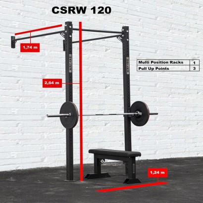 CROSS STATION + RACK 120 WALLMOUNTED