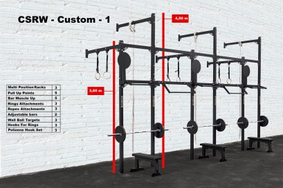 CROSS STATION + RACK WALLMOUNTED - CUSTOM 1