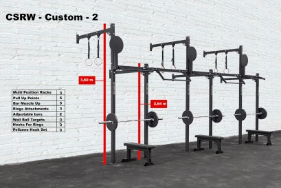 CROSS STATION + RACK WALLMOUNTED - CUSTOM 2