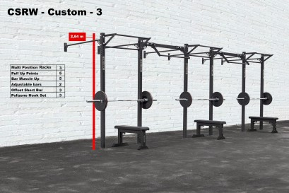 CROSS STATION + RACK WALLMOUNTED - CUSTOM 3