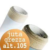 Tela Juta Grezza rotoli H 105 cm