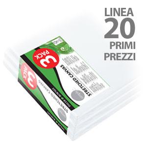 Tele per dipingere, Tele Didattiche Primi Prezzi 3Pack - Linea 20
