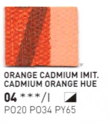 004 Giallo Cadmio arancio - Colore a olio Pebeo Studio XL 200ml Grande