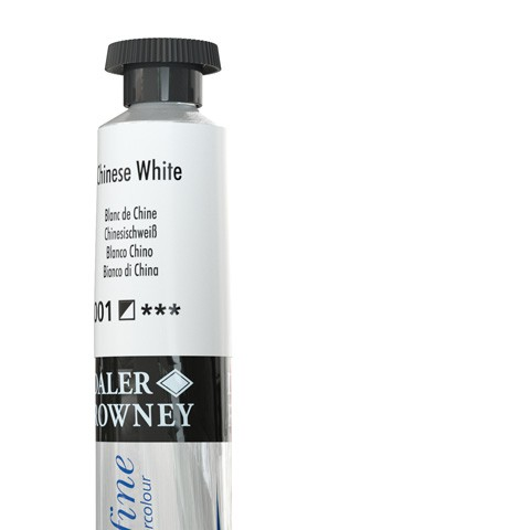 001 Bianco di China - Acquarello Daler Rowney Aquafine tubetto da 8ml
