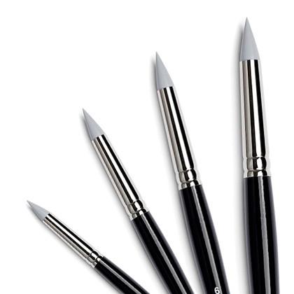 pennelli in silicone pennelli gomma tintoretto tonda