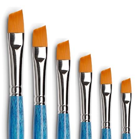pennelli tagliati, pennelli angolari, pennello diagonale