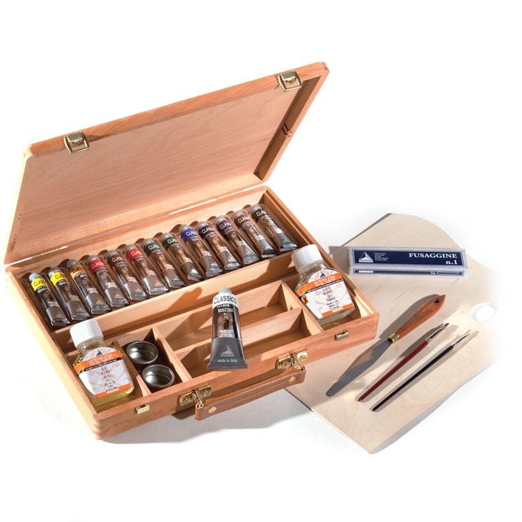 confezione colori ad olio maimeri classico cassetta colori