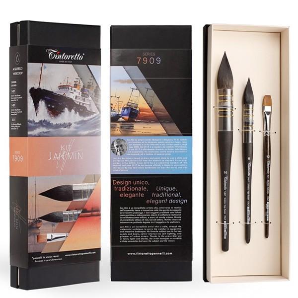 Kit 3 Pennelli Jan Min in prestigioso cofanetto - Tintoretto 7909