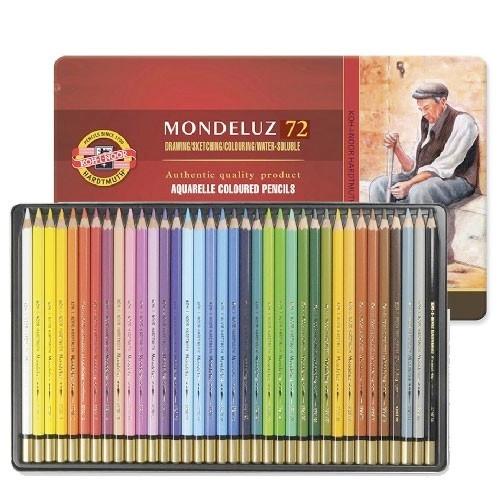 Confezione in metallo matite acquerellabili Mondeluz Koh-I-Noor