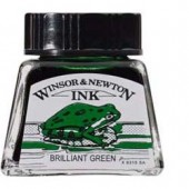 46 Verde brillante - Inchiostro Winsor e Newton 14ml
