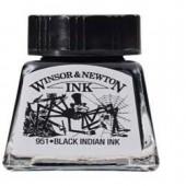 030 Inchiostro di china nero - Inchiostro Winsor e Newton 14ml