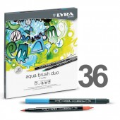 pennarello Lyra Duo Aqua con punta a pennello e punta in feltro, prezzi pennarello Lyra Duo Aqua con punta a pennello e punta in feltro