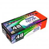 Confezione da 48 tubi 22ml di colori acrilici Graduate