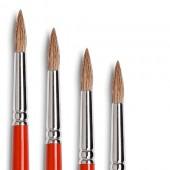 Pennelli Tintoretto serie 814 - Pelo di bue, punta tonda, manico lungo (Default)
