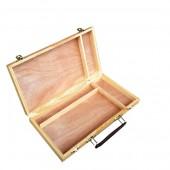 cassetta portacolori in legno semplice, prezzi cassettina portacolori per pittori, cassetta per pittori, prezzi cassette in lengo pittura