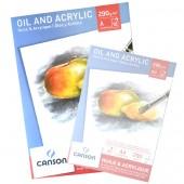Blocco Olio e Acrilico Canson, Grana media, 10 fogli 290g, A3 cm 29,7x42