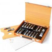 Confezione colori a olio Maimeri Classico in cassetta di legno