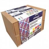 Cofanetto a piani con 10 flac. Pebeo Setacolor Opaque colore per stoffa e accessori (Default)
