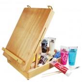 colori acrilici Cassetta cavalletto colori acrilici Pebeo, cassetta cavalletto prezzi colori acrilici studio cassett cavalletto