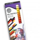 Confezione 25 pastelli ad olio morbidi Simply