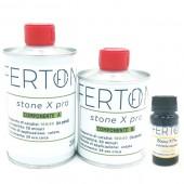 Resina tricomponente colorata Stone X Pro, colore GIALLO - form. 335gr (A+B+C)