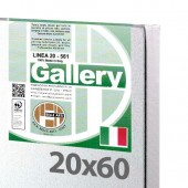 20x60 cm - Tela per pittura pronta - Pieraccini linea Gallery 20/569 - Made in Italy