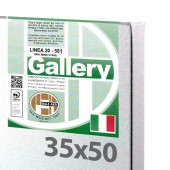 35x50 cm - Tela per pittura pronta - Pieraccini linea Gallery 20/561 - Made in Italy