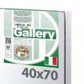 40x70 cm - Tela per pittura pronta - Pieraccini linea Gallery 20mm, Cotone a Grana FINE - Made in Italy