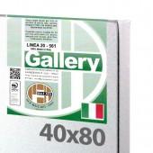 40x80 cm - Tela per pittura pronta - Pieraccini linea Gallery 20/561 - Made in Italy