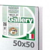 50x50 cm - Tela per pittura pronta - Pieraccini linea Gallery 20/561 - Made in Italy