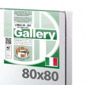80x80 cm - Tela per pittura pronta - Pieraccini linea Gallery 20/569 - Made in Italy