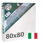 tele per dipingere  80x80 cm - Tela per pittura pronta a spessore ALTO - Pieraccini linea 37 MAXI