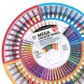 Multitecnica Daler Rowney mega ruota, acrilici, olio, acquarelli, matite, pastelli