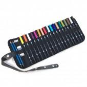 Confezione a rotolo con 18 Pennarelli Tombow Dual Brush e accessori