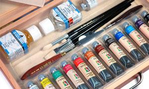 colori a tempera, confezione colori a tempera, cassette colori a tempera, cassette colori maimeri