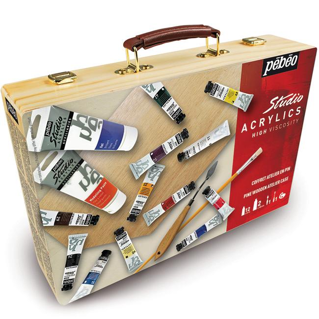 confezione colori acrilici, cassetta colori acrilici, comprare colori acrilici, cassette colori acrilici online